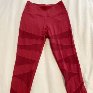 Red Mesh Buffbunny Leggings